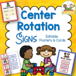 Printable Center Rotation Signs for Stations in Preschool