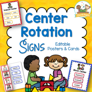 Center Rotation Signs and Cards