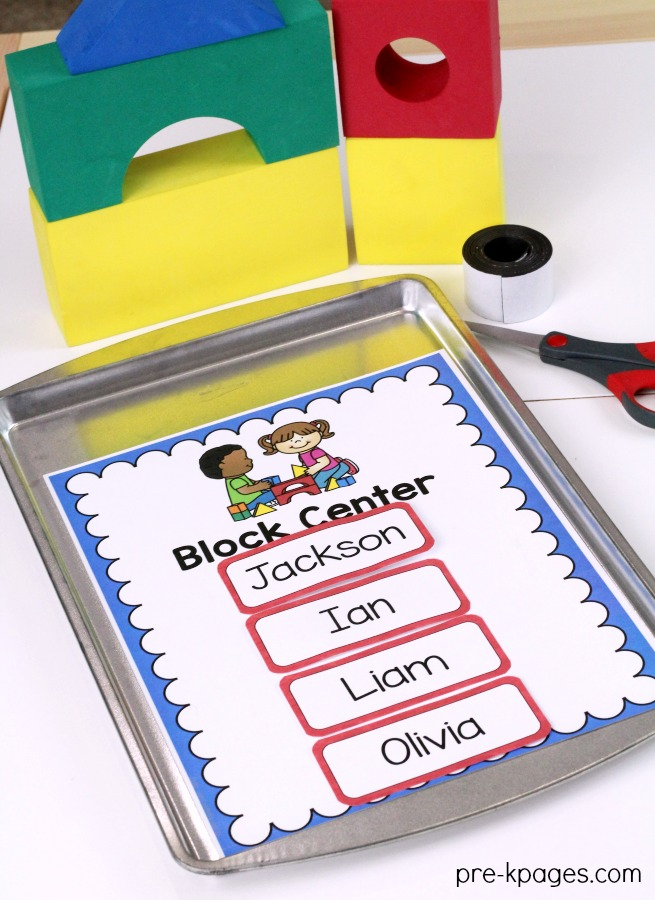 Printable Center Rotation Signs with Magnets
