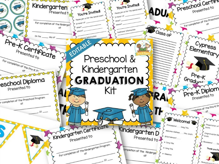 Preschool Graduation Kit - Pre-K Pages