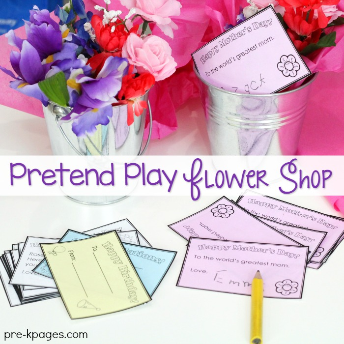 Pretend Play Flower Shop for Mothers Day