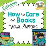 How to Care for Books Printable Visual Supports