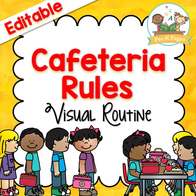Cafeteria Procedures and Routine for Preschool and Kindergarten