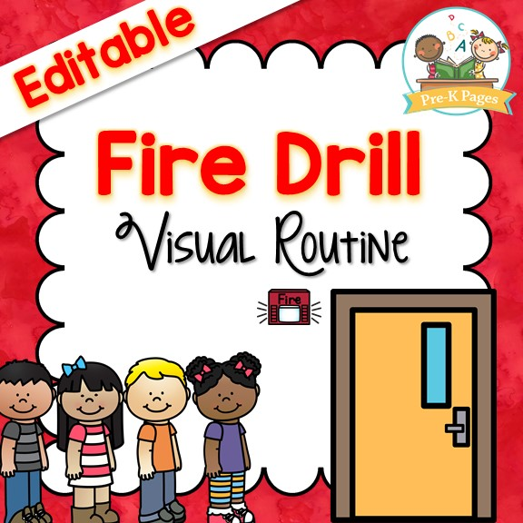 Printable Fire Drill Book Posters and Cards for Preschool and Kindergarten