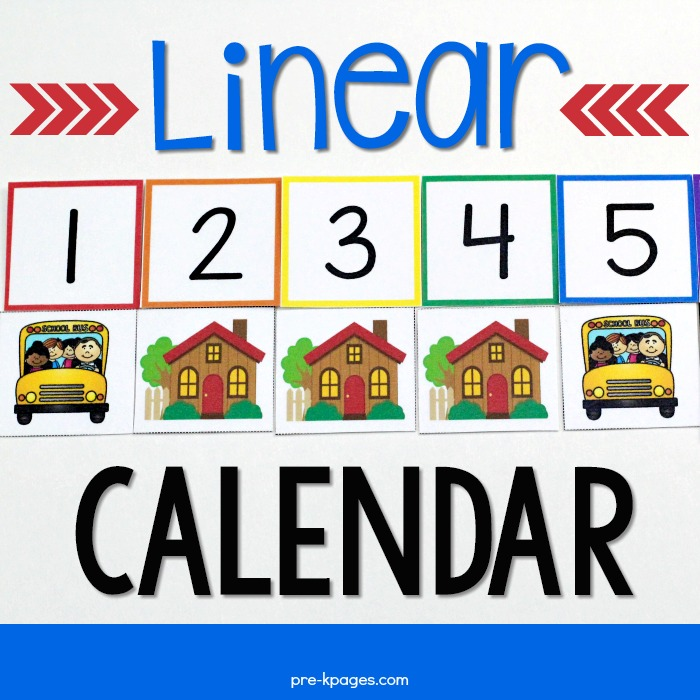 Printable Linear Calendar Packet