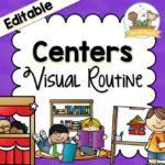 Center Visual Routine Printables for Preschool and Kindergarten