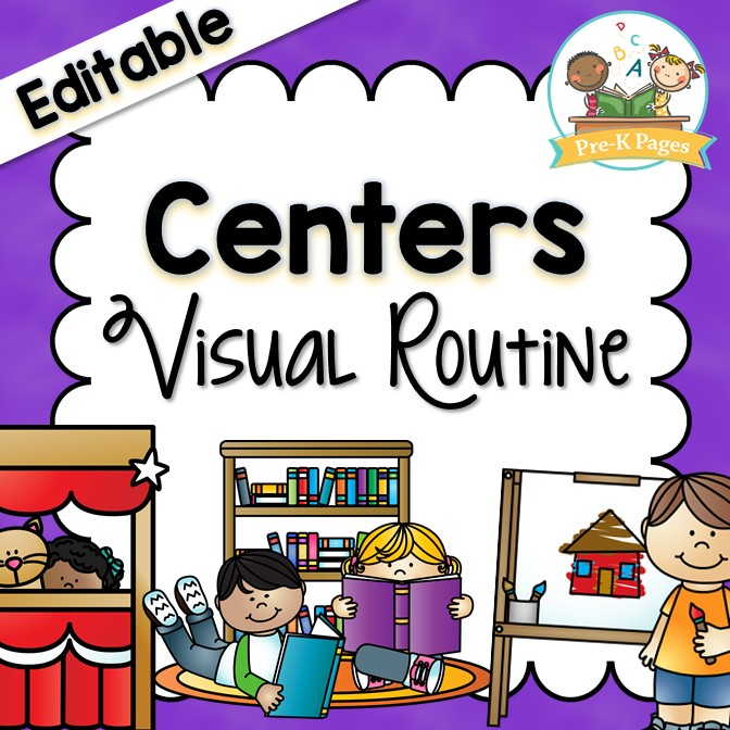 Center Visual Routine Printables for Preschool and Kindergarten