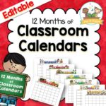 Printable Classroom Calendars for Preschool Pre-K and Kindergarten