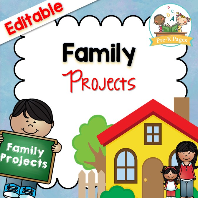 Printable Monthly Family Projects for Preschool Pre-K and Kindergarten