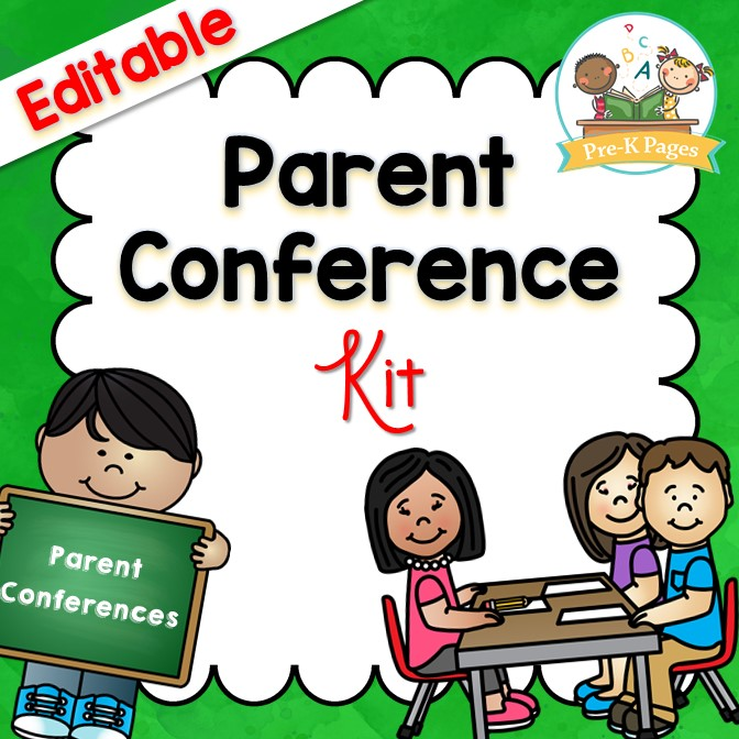 Editable Parent Conference System for Preschool Pre-K and Kindergarten Teachers