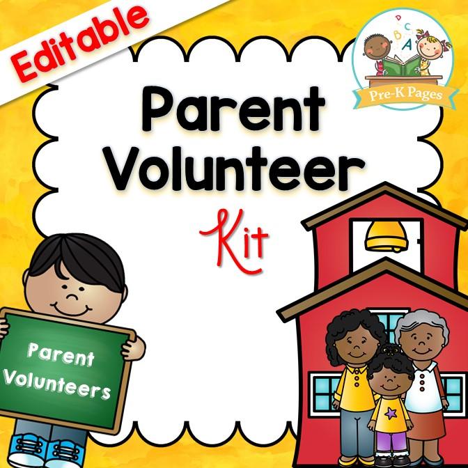 Editable Parent Volunteer Kit for Preschool Pre-K and Kindergarten Teachers