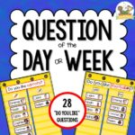 Question of the Day or Week for Preschool Pre-K or Kindergarten