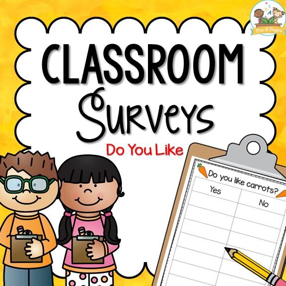 Printable and Editable Classroom Surveys for Preschool and Kindergarten