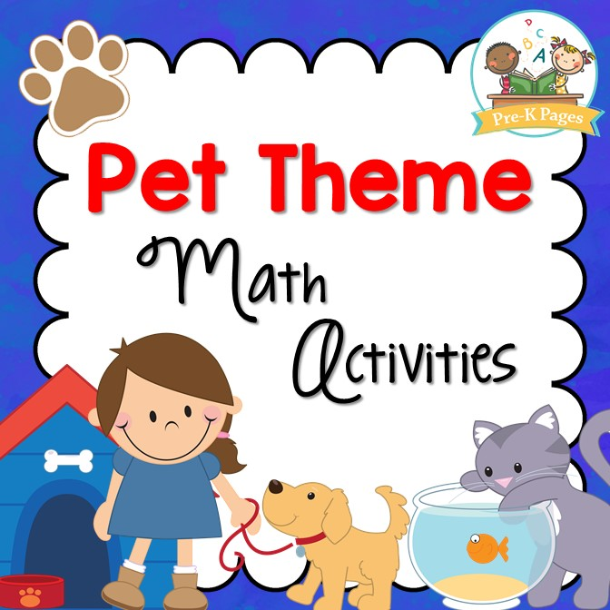 Pet Theme Math Activities Pre K Pages