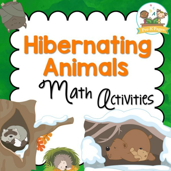 Hibernating Animals Math Prek Pages. Hibernation Theme Math Activities For Preschool And Kindergarten. Kindergarten. Hibernation Printables For Kindergarten At Clickcart.co