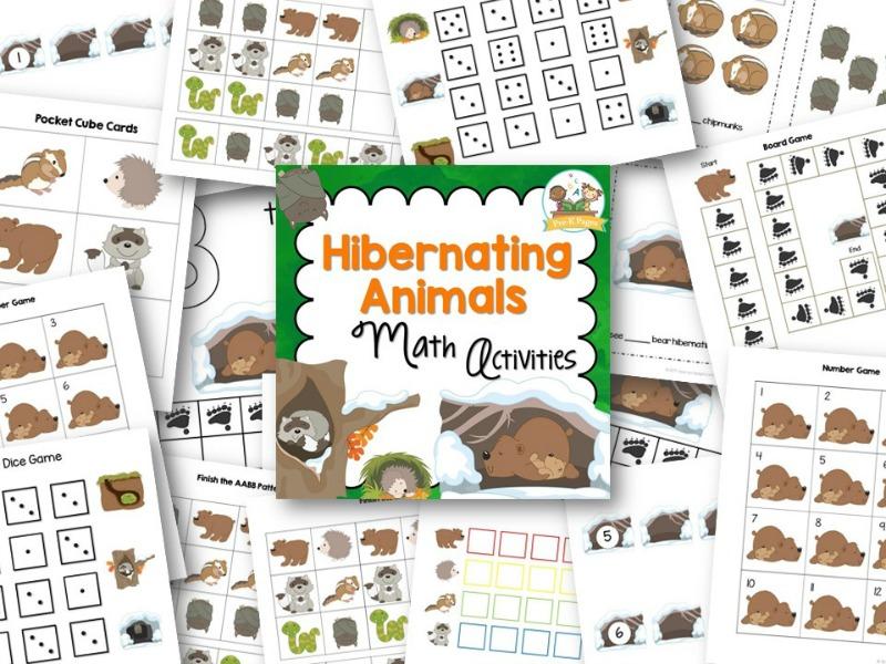 Hibernating Animals Math - Pre-K Pages