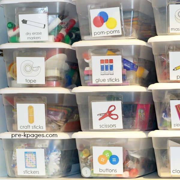 Art and Craft Supply Storage in Preschool