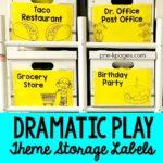 Printable Dramatic Play Theme Storage Labels