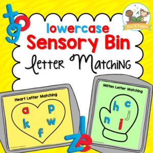 Lowercase Sensory Bin Letter Matching