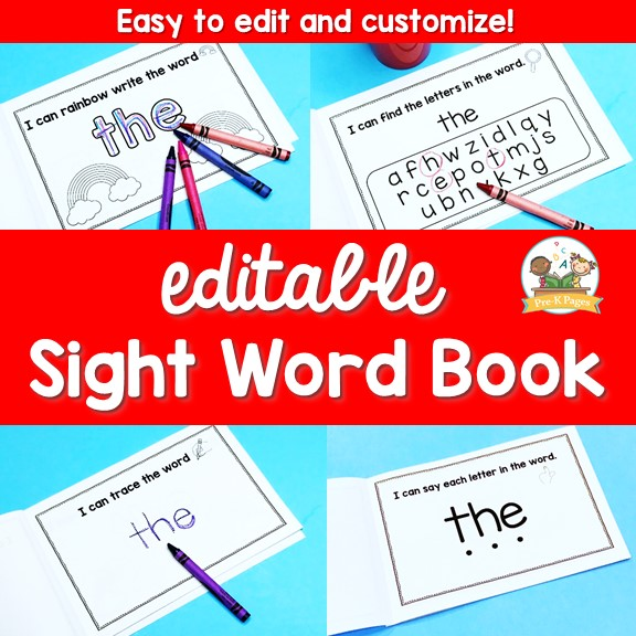 Juicy image within sight word book printable