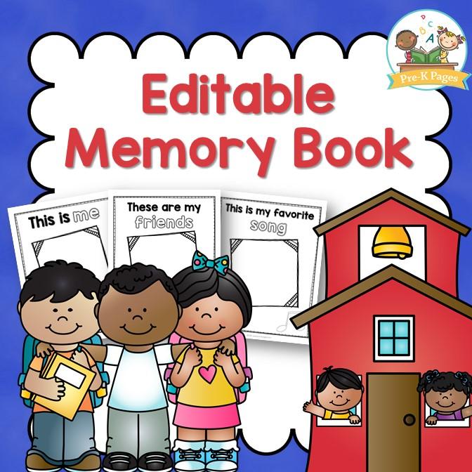 Senior Memory Book Cover Ideas : Preschool memory book printable for the end of year