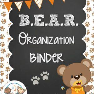 Bear Organization Binder
