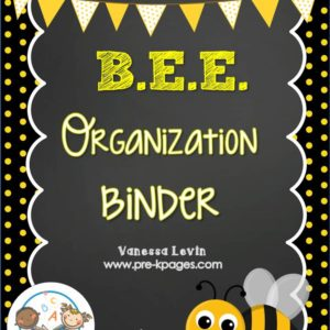 Bee Organization Binder
