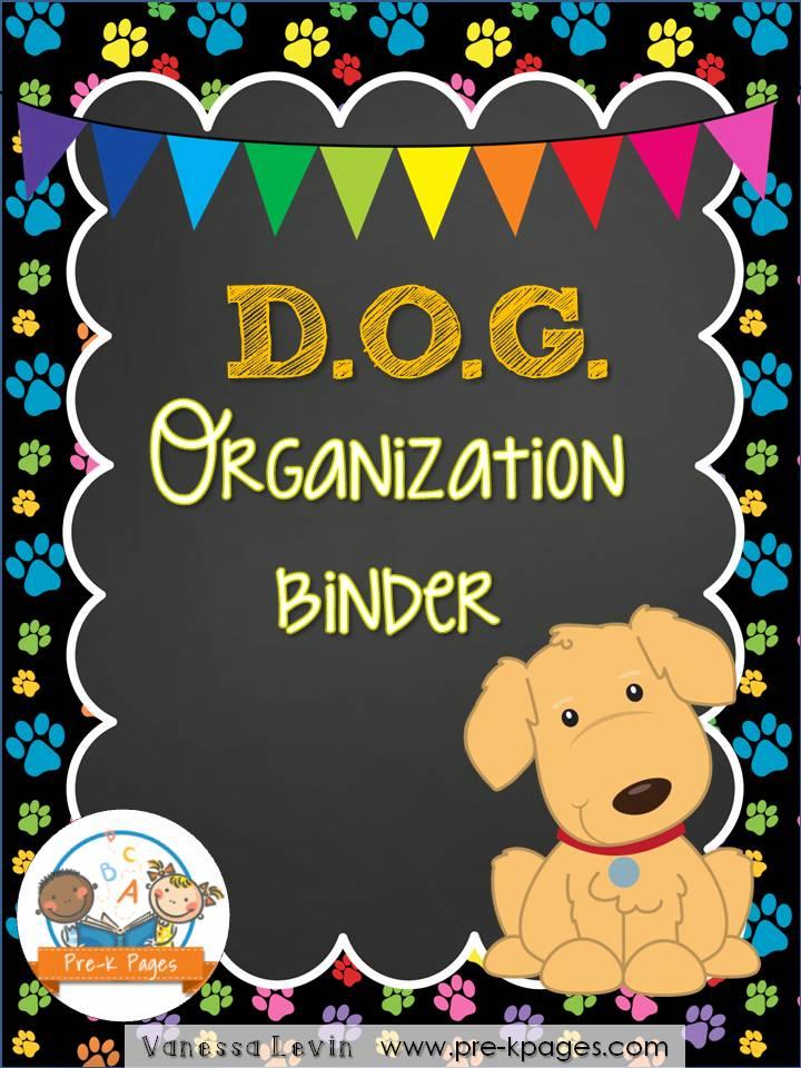dog organization binder