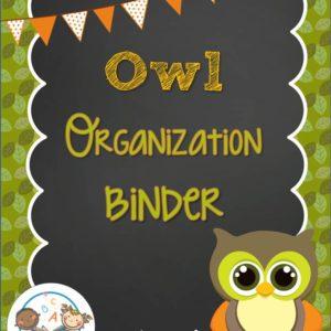 Owl Organizational Binder