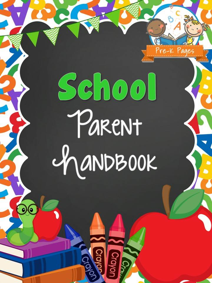 -theme-parent-handbook-cover Teaching Newsletter Template on teaching mission statement, teaching team, teaching youth, teaching portfolio, teaching presentation, teaching brochure, teaching conference,