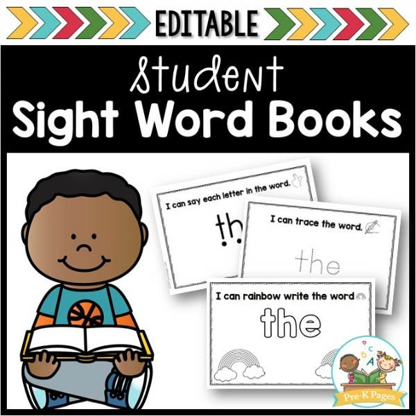 Editable Sight Word Book